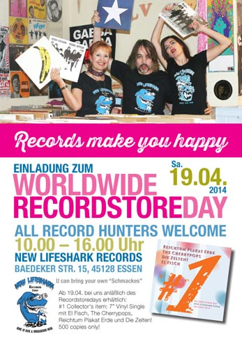 New Lifeshark Records - Recordstore Day 2014
