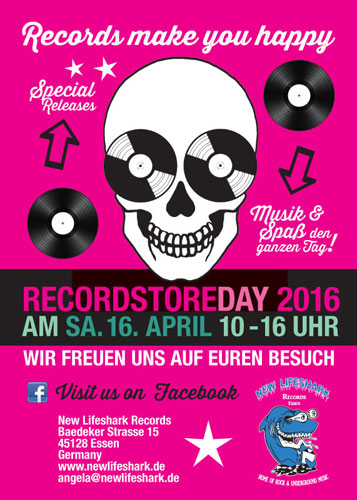 New Lifeshark Records - Recordstore Day 2016