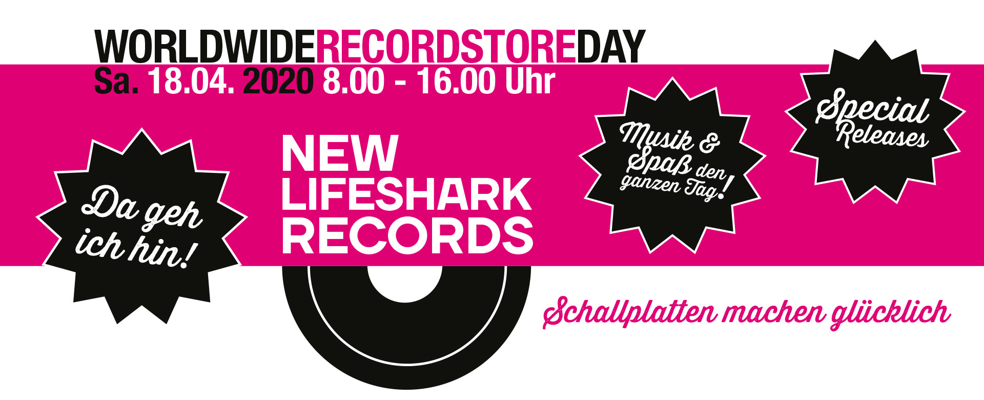 New Lifeshark Records Essen - Recordstoreday 2020