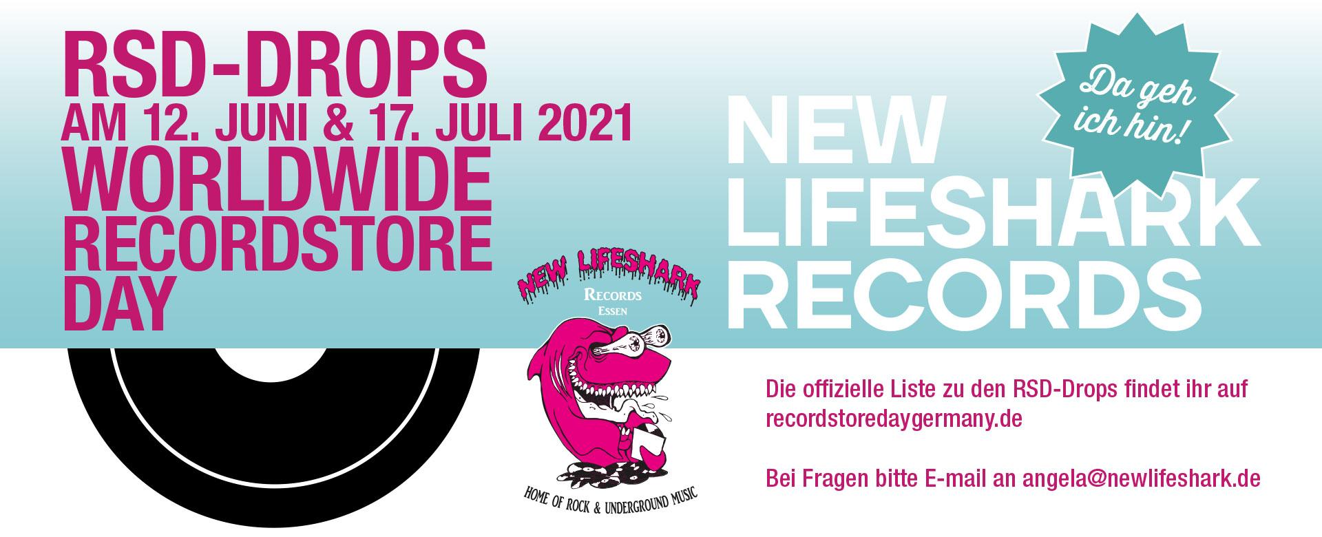 Recordstore Day 2021 bei New Lifeshark in Essen